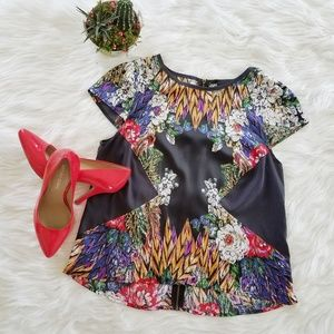 Nicole Miller Floral Feather top